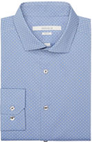 Perry Ellis Slim Fit Round Diamond Dress Shirt