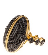 Freida Rothman Two-Tone Pave CZ Harlequin Done Ring