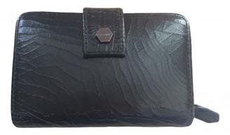 AllSaints Black Leather Wallets