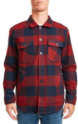 Brixton Durham Buffalo Plaid Button-Up Flannel Shirt Jacket