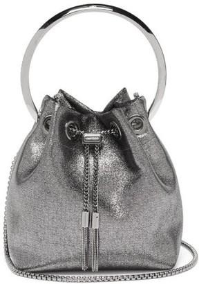 Jimmy Choo Bonbon Metallic Bucket Bag - Silver