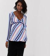 Mama Licious Mama.Licious Mamalicious maternity stripe wrap top