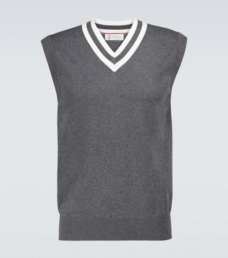 Brunello Cucinelli Knitted cotton vest