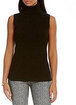 MICHAEL Michael Kors Shaker Stitch Sleeveless Turtleneck Sweater