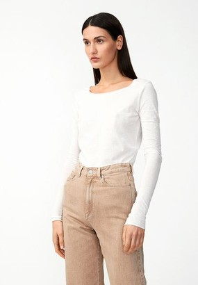 Armedangels Organic Cotton Long Sleeve Top In Off White - XS