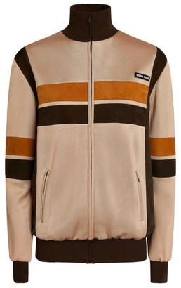 Miu Miu High-Neck Jersey Blouson Jacket
