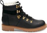 Toms Black Waterproof Leather Women's Summit Boots