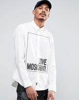 Love Moschino Square Logo Printed Shirt