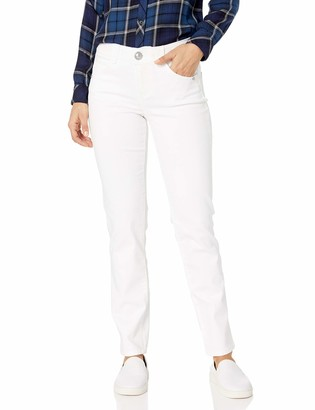 Democracy Women's Petite Denim Ab Solution Straight Leg