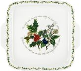 Portmeirion Holly & Ivy Handled Cake Plate