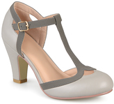 Journee Collection Gray Olina T-Strap Pump