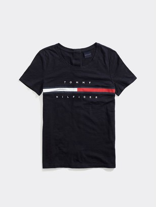 Tommy Hilfiger Seated Fit Stripe Signature T-Shirt