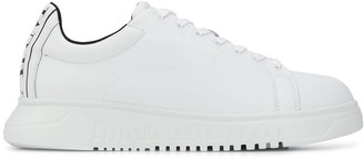 Emporio Armani Leather Low-Top Sneakers