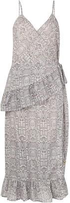 SUBOO Frill Wrap Dress