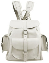 Grafea Bianca Medium Leather Rucksack White
