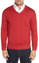 Robert Talbott Men's Merino Wool V-Neck Sweater