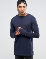 Religion Long Sleeve T-Shirt With Stepped Front