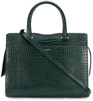 Saint Laurent Embossed Crocodile Effect Tote Bag