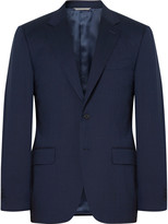 Canali Blue Stretch-Wool Suit Jacket