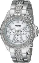 XOXO Women's XO5662 Analog Display Quartz Silver Watch