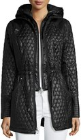 Laundry by Shelli Segal Quilted Hooded Anorak Jacket, Black
