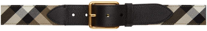Burberry Black Check Belt
