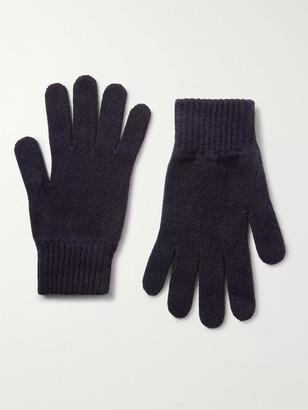 Johnstons of Elgin Cashmere Gloves - Men - Blue