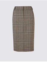 M&S Collection Checked Pencil Midi Skirt