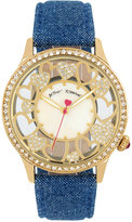 Betsey Johnson Women's Blue Denim Strap Watch 41mm BJ00331-09
