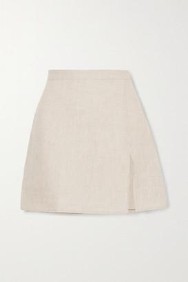 Reformation Baker Linen Mini Skirt - Beige