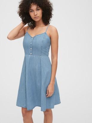 Gap Denim Cami Fit & Flare Dress