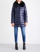 MICHAEL Michael Kors Faux-fur collar quilted shell jacket