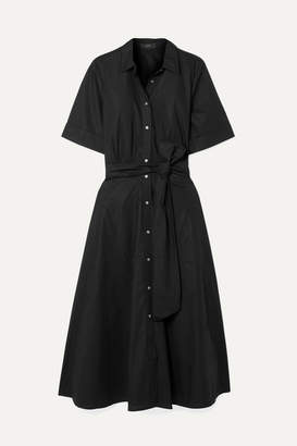 J.Crew Redbury Cotton-poplin Midi Dress - Black