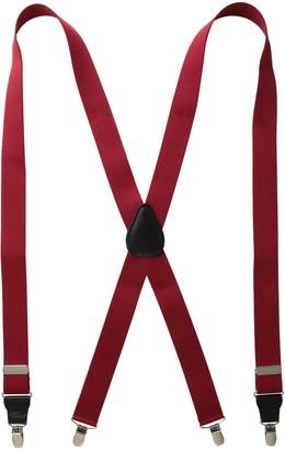 Status Men's Tall Plus Size Suspenders 11/4 Inch Poly Elastic 54 Inch Drop Clip
