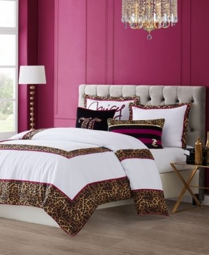 Juicy Couture Regent Leopard 3-Piece King Comforter Set Bedding