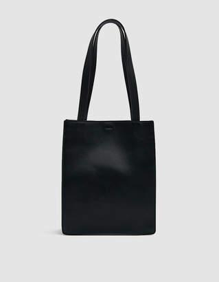 Baggu Medium Leather Retail Tote in Black