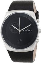 Skagen Men's SKW6070 Havene Black Leather Watch