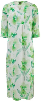 Nologo Chic Lime Flower Line Maxi Dress