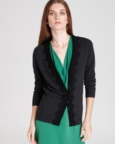 Bloomingdale's C by Cashmere Lace Applique Cardigan