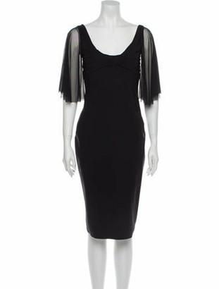 Chiara Boni Scoop Neck Knee-Length Dress Black