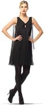 Max Studio Silk Chiffon Keyhole Neckline Dress