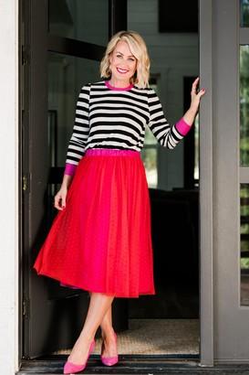 Gibson Sloan Mesh Swiss Dot Party Skirt