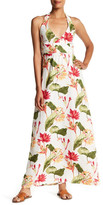Tommy Bahama Tropical Lilies Halter Linen Dress