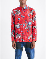 Gucci Creature-print Regular-fit Silk Shirt