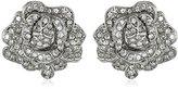 Kenneth Jay Lane Bride Clear Crystal Rose Flower Ball Earrings