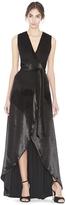 Alice + Olivia Simmons Velvet Wrap Dress