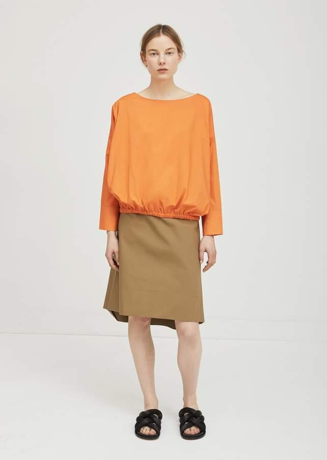 Ter Et Bantine Cotton A-Line Midi Skirt Camel