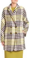 Lafayette 148 New York Katelyn Windsor Plaid Peacoat