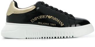 Emporio Armani Embroidered Logo Sneakers