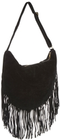 MinkPink Old Faithful Studded Fringed Hobo Bag